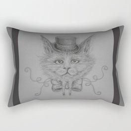 Fancy Cat with hat Rectangular Pillow