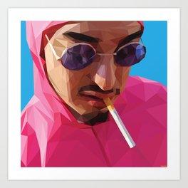 Pink Guy Art Print