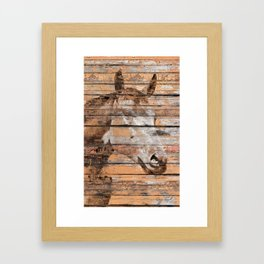 Horse Face Framed Art Print