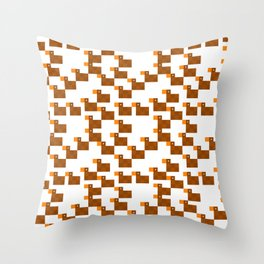 Pixel by pixel – Duck Throw Pillow