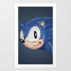 Triangles Video Games Heroes - Sonic Art Print