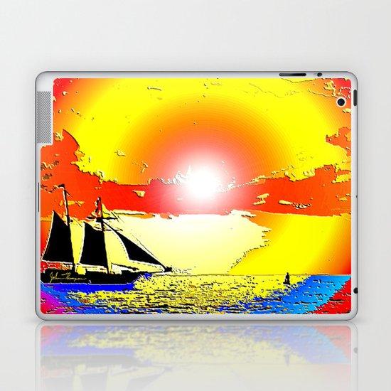Sunset ship Laptop & iPad Skin