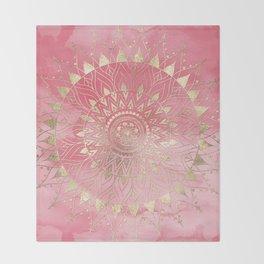 Modern  gold mandala Throw Blanket