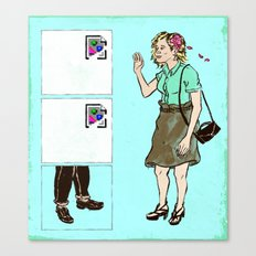 The Trouble with Online Dating Canvas Print