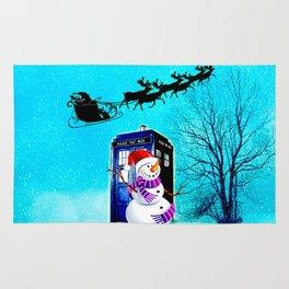 Tardis Christmas Rug