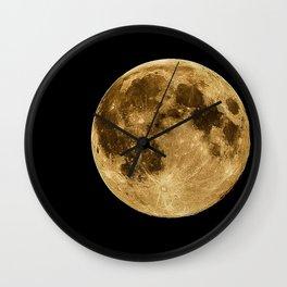 Telescopic Photograph of Earth's Moon Wall Clock