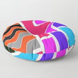 Color wave Floor Pillow