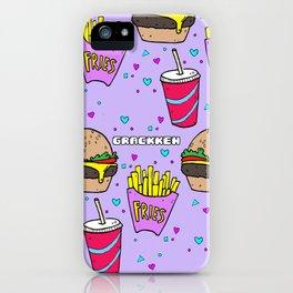 Junk Food (Purple) iPhone Case