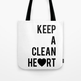 Typographic Quote Print In Black And White Tote Bag
