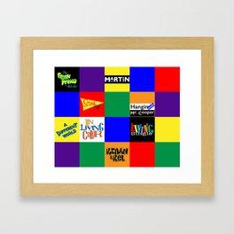 90s Nostalgia Framed Art Print