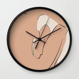 Cool down nude figurative minimalist Wall Clock