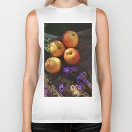 An apple a day keep doctor away Biker Tank