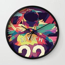 Hakim Ziyech on WPAP Pop Art Portrait Wall Clock