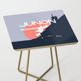 Final Fantasy VII - Visit Junon Propaganda Poster Side Table
