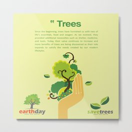 Save Trees Metal Print