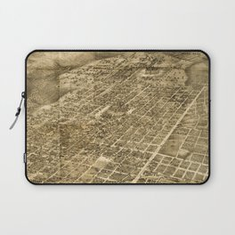 Vintage Pictorial Map of Austin Texas (1890) Laptop Sleeve