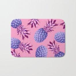 Violet pineapples Bath Mat
