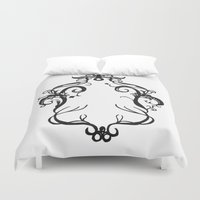 frame Duvet Covers featuring Fall frame by Hannah Isabelle Lewis