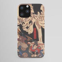 Takiyasha the Witch and the Skeleton Spectre, by Utagawa Kuniyoshi iPhone Case