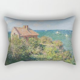 Fisherman's Cottage at Varengeville by Claude Monet Rectangular Pillow