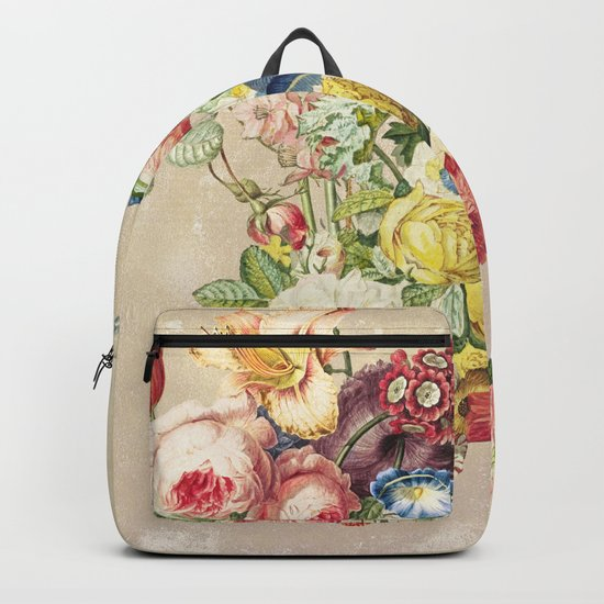 Floral tribute to Louis McNeice (Light) Backpack