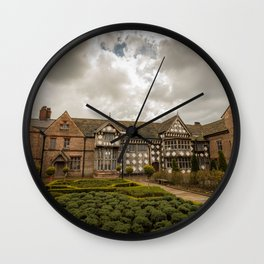 Cloudy Spring Day in an Old English Yard Wall Clock