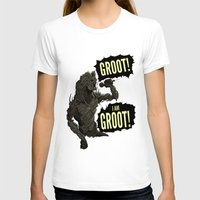 groot T-shirts featuring Groot! I am Groot! by mstfaCmly