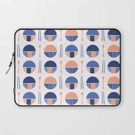 Oriental Table Setting Silhouettes Laptop Sleeve