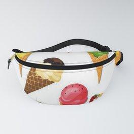 Ice cream-White Fanny Pack