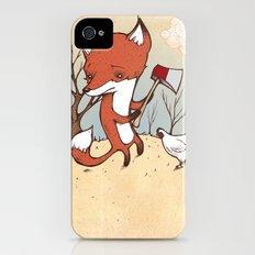 Fox and Chicken iPhone (4, 4s) Slim Case