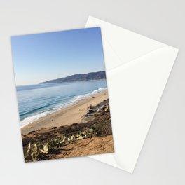 Malibu, California - Coastline Stationery Cards