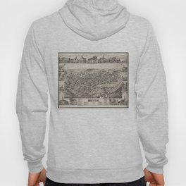 Vintage Pictorial Map of Dover Delaware (1885) Hoody