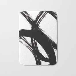Abstract Wall art, Abstract Print, Black White Abstract Print, Black White Art, Minimalist Print, Ab Bath Mat