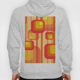 Vintage Design Red orange yellow rectangles Hoody