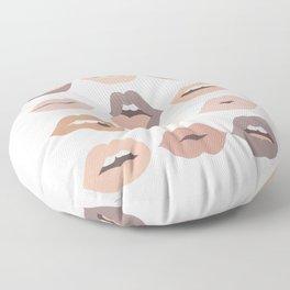 Lips of Love (Neutral Palette) Floor Pillow