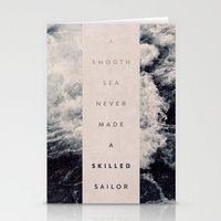 sailor Stationery Cards featuring A Smooth Sea Never Made A Skilled Sailor by Oliver Shilling