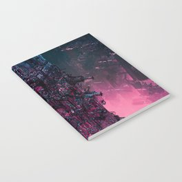 The Technocore / 3D render of futuristic structure Notebook