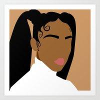 fka twigs Art Prints featuring FKA Twigs by Cormac Banks