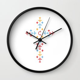 Christ Be The Centre Wall Clock