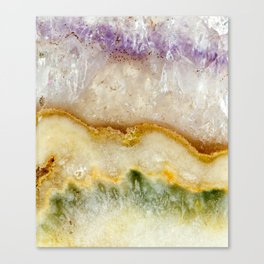 Striated Amethyst in Purple Gold & Green Canvas Print