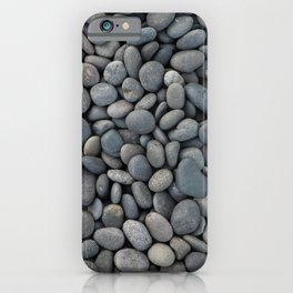 Gray pebbles iPhone Case