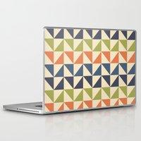 60s Laptop & iPad Skins featuring Geometric Pattern // 60s by Jennifer Robert