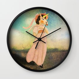 Pinkie Unicorn Wall Clock