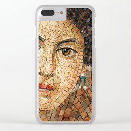 Detail of Woman Portrait. Mosaic art Clear iPhone Case