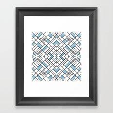 PS Grid 45 Sky Blue Framed Art Print