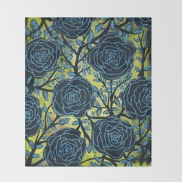 Black and Blue Throw Blanket