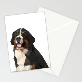 Cute Dog Pet Bernese Mountain Dog Animal Low Poly Stationery Cards