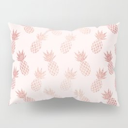 Rose Gold Pineapple Pattern Pillow Sham