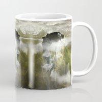 arya Mugs featuring Man floating by ARTiSTiC TENDENCiES