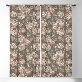 Delicate hydrangea on a taupe background Blackout Curtain